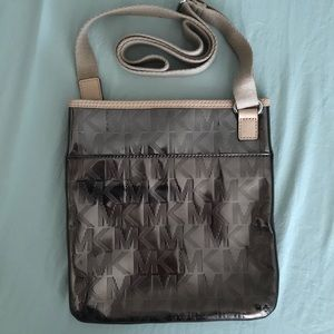 Micheal KORS crossbody silver metallic bag w/tags
